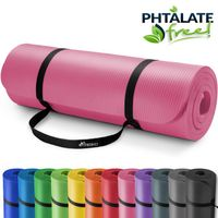 TRESKO Yogamatte Fitnessmatte Gymnastikmatte Pilates 185x60x1,0cm Rosa