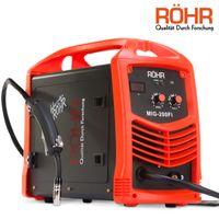 Röhr MIG-200FI - Inverter-Fülldrahtschweißgerät für MIG-Schweißen - mit Gas - DC - IGBT-Technologie - 240 V - 200 A