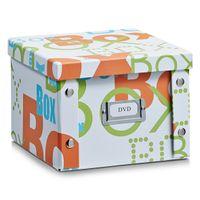 """Zeller DVD-Box """"Box"""", Pappe, weiß 21,5x20,5x15"""
