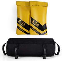 Power Bag, Einstellbarer Fitnesssandsack, Gewichtssack mit 6 Gummigriffe & Reissverschluss, Force Bag Trainingssandsack aus PVC & Oxford-Gewebe, für Krafttraining Fitness Exercise