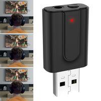 2in1 USB Bluetooth Adapter Transmitter und Empfänger für TV PC Auto Audio Sender