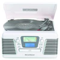 Ricatech RMC100 weiß 5-in-1 Plattenspieler Music Center