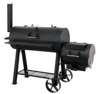 "Tepro Smoker ""Milwaukee"", Holzkohlegrill 3 Hauptgrillroste, schwarz"