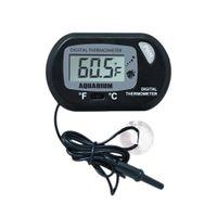 Digital LCD Themometer Saugnapf schwimmthermometer Aquarium Fische