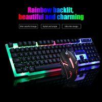 Gaming Tastatur Keyboard Maus Set RGB LED USB Mechanisch PC Laptop MAC/WINDOWS