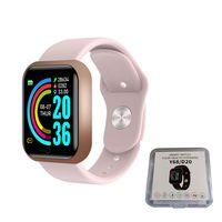 Smart Watch Y68 Wasserdichtes Herzfrequenz-Tracker-Fitness-Armband für iOS Android SCY201201104PK