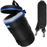 JJC DLP-6II Wasserabweisend Deluxe Objektiv Tasche mit Schultergurt passt Objektiv Größe unten 113 x 240 mm