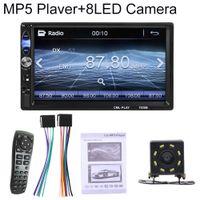 Auto 2Din Bluetooth Freisprecheinrichtung FM USB USB-Spiegelverbindung Umkehrbild MP5-Player - mit 8-LED-Rückfahrkamera