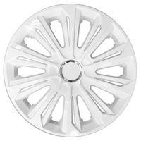 NRM Radkappen STRONG Radzierblenden Radblenden Set 4 Stück 15Zoll weiß