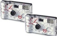 2x 1A PHOTO PORST Einwegkamera Liebe (je 27 Fotos, mit Blitz, inklusive Batterie) 246 g