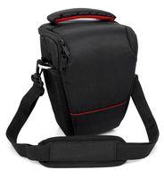 Spiegelreflex DSLR / SLR Kameratasche mit Tragegurt Kamera Tasche Aufbewahrung in Schwarz