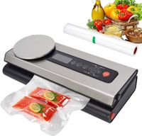 Vakuumiergerät Automatischer Vakuumierer mit Waagen bis 2kg LCD Display für trockene feuchte Lebensmittel bis zu 8x länger frisch halten