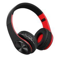 Bluetooth Kopfhörer Schwarz Over Ear HiFi Stereo Kabellose Kopfhörer für PC Handy TV Kopfhörer Funk-Kopfhörer Over Ear