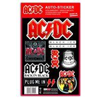 AC-DC Auto Aufkleber Set official Car Sticker UV beständig waschanlagensicher
