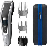 Philips 5000 series Abwaschbarer Haarschneider mit Trim-n-Flow-PRO-Technologie, Schwarz, Silber, 0,5 mm, 2,8 cm, 4,1 cm, Edelstahl, Akku