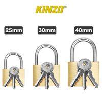 KINZO - 3er Set Vorhängeschlösser - 25/30/40mm - je 2x Ersatzschlüssel