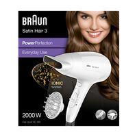 Braun Satin Hair 3 PowerPerfection Haartrockner HD385 – Mit Ionentechnologie
