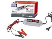 Dino KRAFTPAKET Batterieladegerät 6V/12V-4A mit Batterietester KFZ Auto Motorrad Ladegerät mit Memoryspeicher