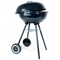 Kugelgrill 44cm fahrbarer Grill mit Ablagerost