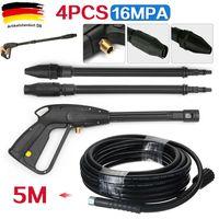 Miixia 4 Stücke Hochdruckpistole Lanze 5m Schlauch für Kärcher Lavor Hochdruckreiniger