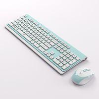 Gaming Tastatur Maus Set kabellose Tastatur und Maus Schwarz AZBUY-de