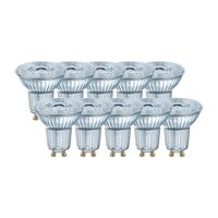 OSRAM LED BASE PAR16 50 (36°) FS Warmweiß SMD Klar GU10 Spot 10er Pack