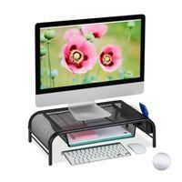 relaxdays Monitorständer mit Schublade