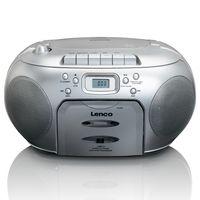 Lenco Tragbares Radio SCD-420, CD-Player, Farbe: Silber