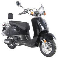 ALPHA MOTORS Motorroller »Retro Firenze«, 50 ccm, 45 km/h, Euro 4, schwarz