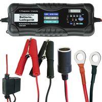 LODCHAMP 12/24 V-10A Batterieladegerät mit Erhaltungsladegerät 12V/24V KFZ Auto LKW Motorrad