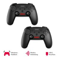 2er Set EAXUS® SWITCH Double Shock Controller | Wireless Pro Gamepad Nintendo Konsole