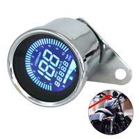 Universal 12 V Motorrad Instrument Geaendert Digitale Motorrad Tachometer Tachometer Manometer LCD Display (7 farben) 0-10000 RPM 0-199 KM / H