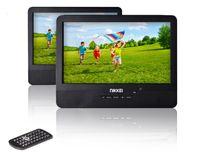 Nikkei NPD910T Tragbarer DVD-Player mit 2 9-Zoll-LCD-Displays