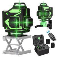 4D Laser Level 16 Lines 360º automatischer Kreuzlinienlaser Grün Rotationslaser APP-Steuerung IP54 Staub & Wasserschutz Kreuzlinienlaser