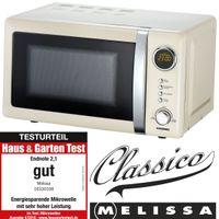 Melissa 16330108 CLASSICO Retro 20 Liter Mikrowelle creme