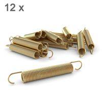 Ampel 24 Trampolin Ersatzfeder-Set von 12 Federn, ca. 165 mm Zugfeder-Länge, Sprungfeder extra verstärkt und lange haltbar