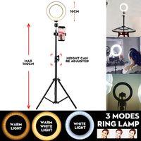 Neufu 6'' LED Dimmbar Ringleuchte Licht + Handyhalter + 160cm Stativ für Youtube Live