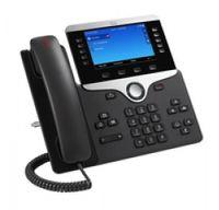 Cisco 8841 IP-Telefon Schwarz, Silber Kabelgebundenes Mobilteil - Plug-Type C (EU)