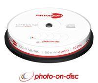 CD-R 80Min./Audio 10er Spindel InkJet Fullsize Printable