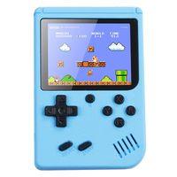 Handheld Retro Spielkonsole Videospielkonsole Gameboy Eingebaute 500 klassische Spiele Kindergeschenke Farbe:Blau