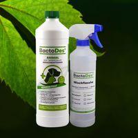 BactoDes Animal Tier-Geruchsentferner Konzentrat Effektiver Geruchskiller Hundeurin Katzenurin