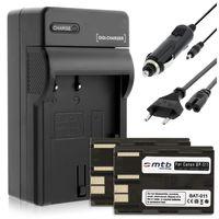 2 Akkus + Ladegerät (KFZ, Netz) für Canon BP-511 / EOS 5D, 10D, 50D... / Powershot G1, G2, G6 ... / Optura... s. Liste!
