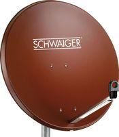 SCHWAIGER -SPI996.2- Stahl Offset Antenne (75 cm), Ziegelrot