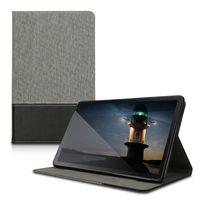 kwmobile Schutzhülle kompatibel mit Samsung Galaxy Tab A 10.1 (2019) - Hülle Slim - Tablet Cover Case mit Ständer Grau Schwarz