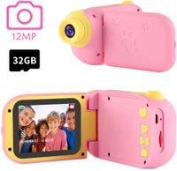 Kinderkamera Rosa mit Spiele 32GB TF-Karte   2019 Mädchen 3 4 5 Jahren   Mädchen Spielzeug 6 7 8 9 Jahren   Kleine Geschenke für Kinder   Kinderspielzeug ab 3 Jahren.