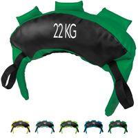 Bulgarien Bag 5kg-22kg aus Kunstleder I Sand-Bag Gewichtssack für Krafttraining Gewicht: 22 kg