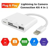 4 in1 OTG Lightning to USB Camera Memory Micro SD Card Reader Adapter For iPhone