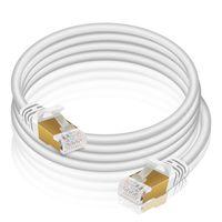 VERCO 20m CAT 7 Netzwerkkabel Patchkabel Rundkabel RJ45 PC LAN Kabel Ethernet Rund Weiss
