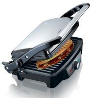 Melissa 16240108 Kontaktgrill vollständig aufklappbar 1600 Watt Power Für Toast, Snacks oder Fleisch. Passt sich jeder Größe an.