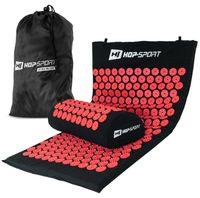 Hop-Sport Akupressur-Set aus Akupressurmatte & Akupressurkissen zur Entspannung und Selbstmassage mit Tasche - Rot